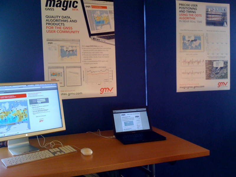 magicGNSS at GMV's booth in Navitec 08